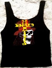 ladies low cut motorcycle vest 100% cotton