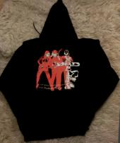 "100% Cotton Unisex ""overlarge"" Red/White hoodie"